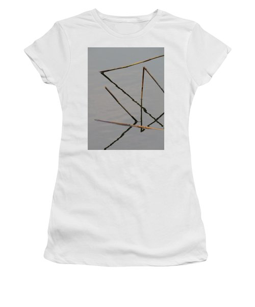 Women's T-Shirt featuring the photograph Water Construction by Attila Meszlenyi
