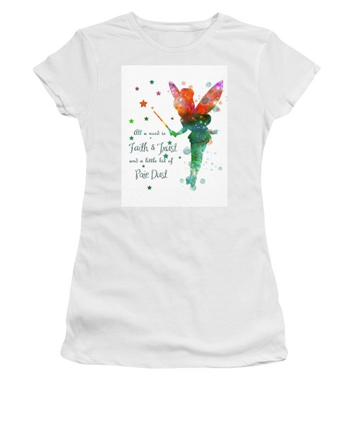 Watercolor Tinkerbell Women's T-Shirt