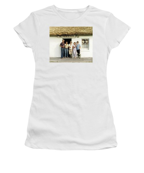 Women's T-Shirt featuring the photograph Well Worth The Drive Accros Lough Mask  by Val Byrne
