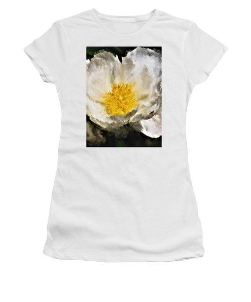 White Peony Women's T-Shirt