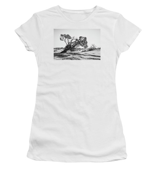 Women's T-Shirt (Athletic Fit) featuring the photograph Will To Survive by Andy Crawford