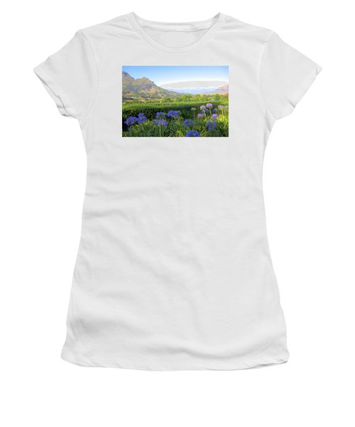 Wine Country Scenic In Stellenbosch South Africa Women's T-Shirt