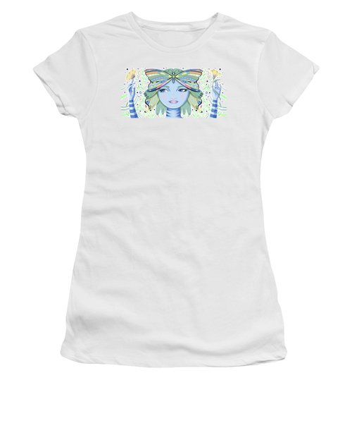 Insect Girl, Winga - White Women's T-Shirt