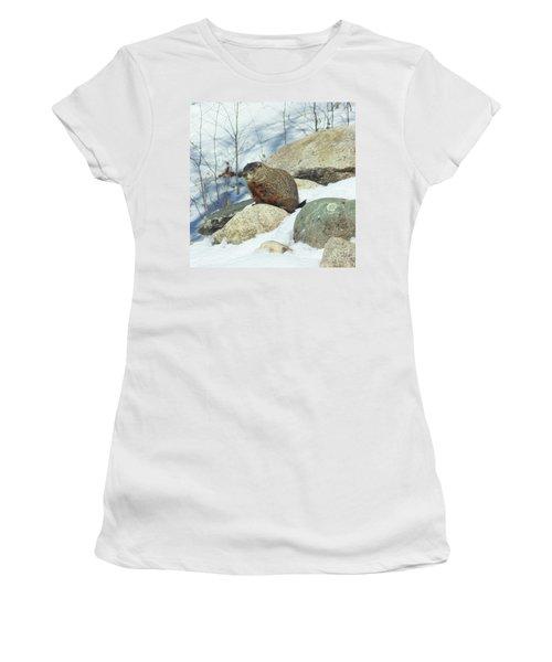 Winter Groundhog Women's T-Shirt