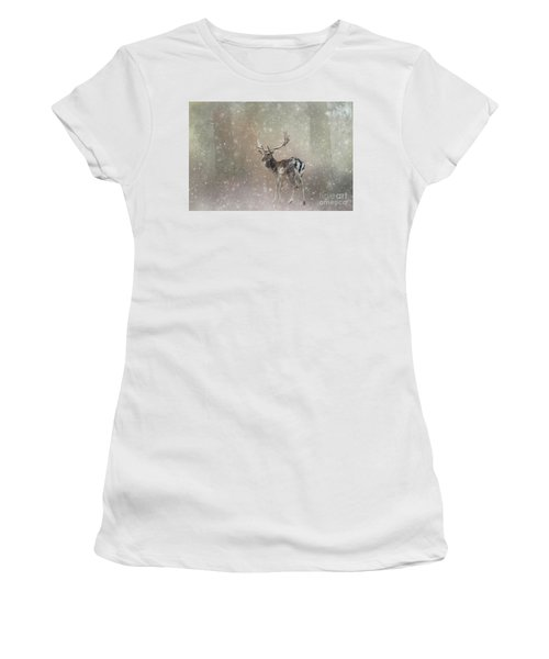 Winter In The Woods Women's T-Shirt