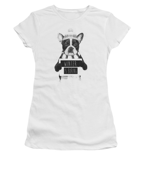 Winter Is Boring Women's T-Shirt (Athletic Fit)