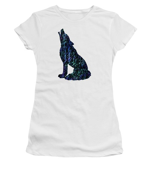 Women's T-Shirt featuring the photograph Wolf Watercolor Painting by David Millenheft
