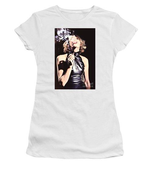 Woman Smoking A Cigarette Women's T-Shirt