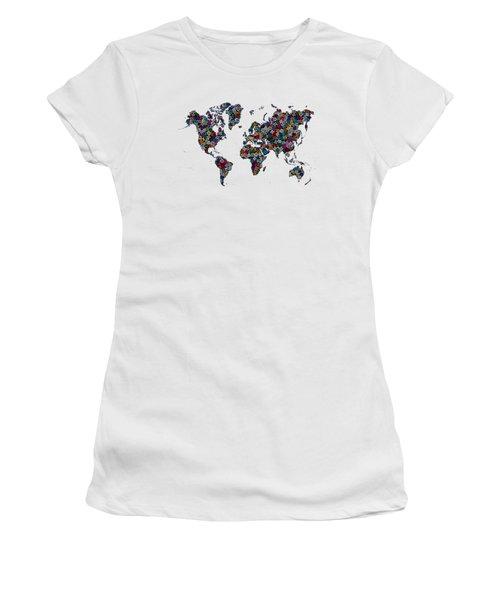 World Map-1 Women's T-Shirt