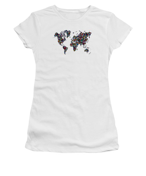 World Map-1 Women's T-Shirt