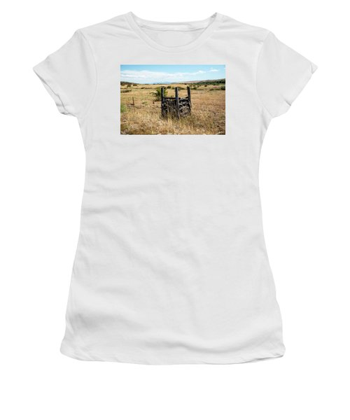 Yellow Grass And Fence Anchor Women's T-Shirt