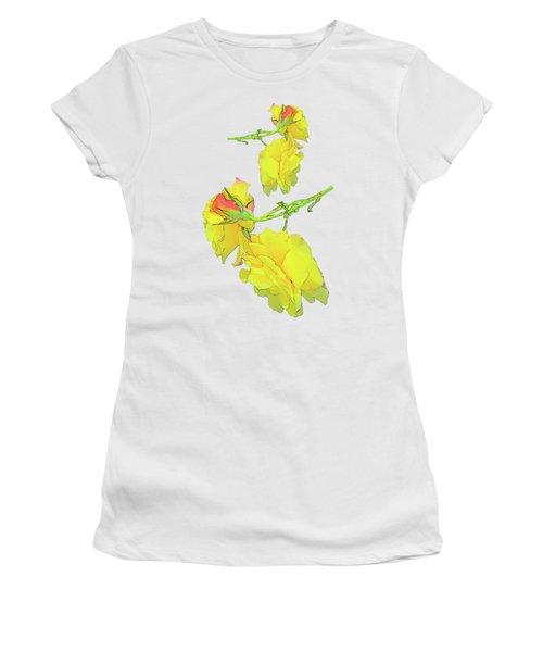Yellow Rose Fabric Women's T-Shirt