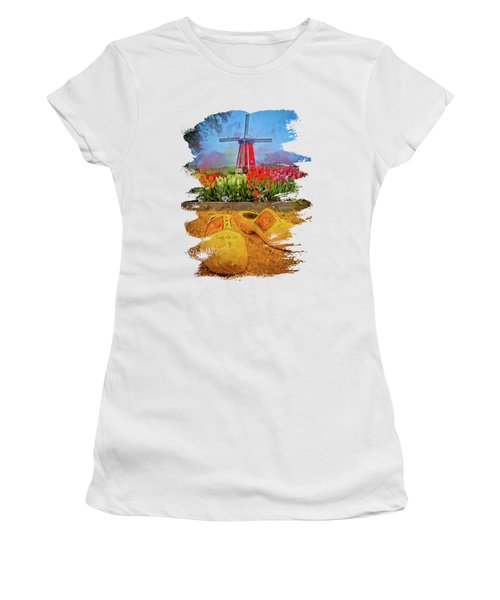 Yellow Wooden Shoes Women's T-Shirt
