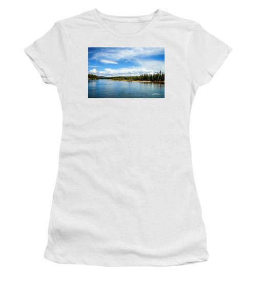 Women's T-Shirt (Athletic Fit) featuring the photograph Yellowstone River by Mike Braun