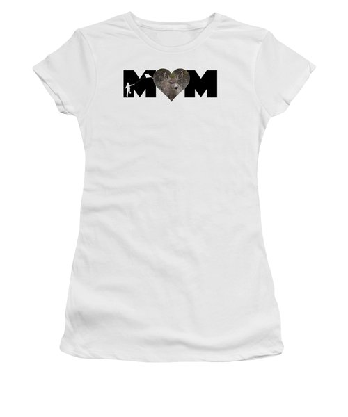 Young Doe In Heart With Little Boy Mom Big Letter Women's T-Shirt