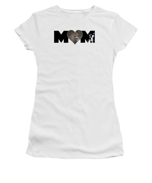 Young Doe In Heart With Little Girl Mom Big Letter Women's T-Shirt