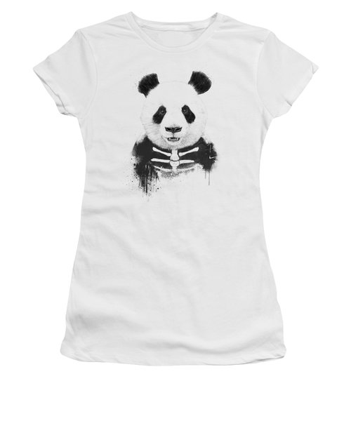 Zombie Panda Women's T-Shirt (Athletic Fit)