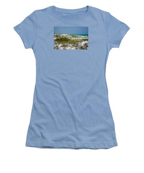 Women's T-Shirt (Junior Cut) featuring the photograph  Dunes    Panama City Beach  by Susan  McMenamin