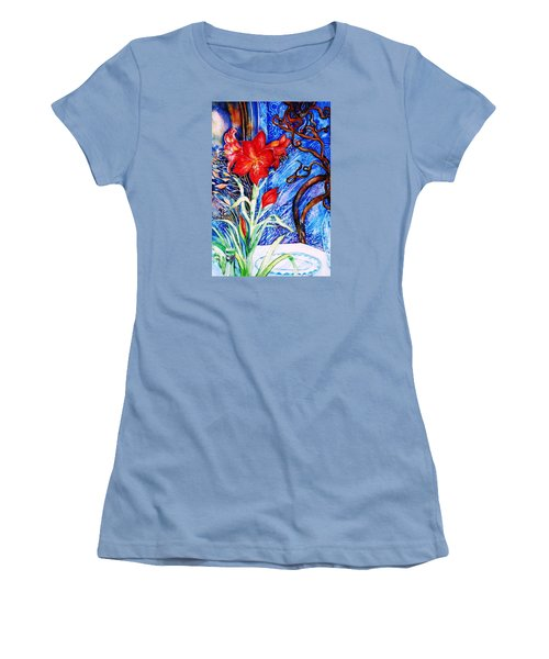 Red Amaryllis  Women's T-Shirt (Junior Cut) by Trudi Doyle