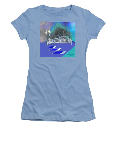 112 This Earthquake Feeling   Women's T-Shirt (Junior Cut) by Irmgard Schoendorf Welch