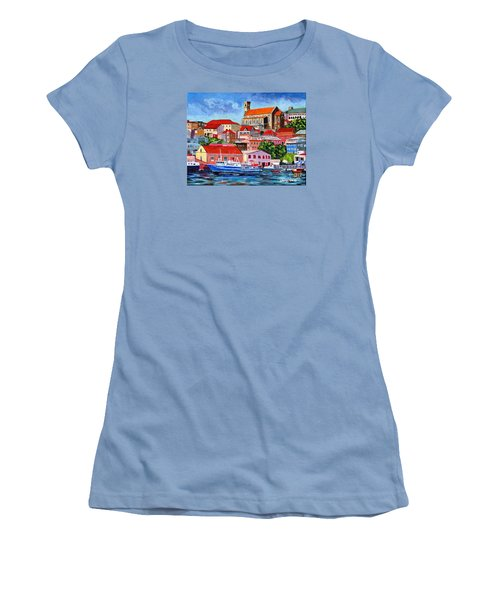 A View Of The Carenage Women's T-Shirt (Junior Cut) by Laura Forde