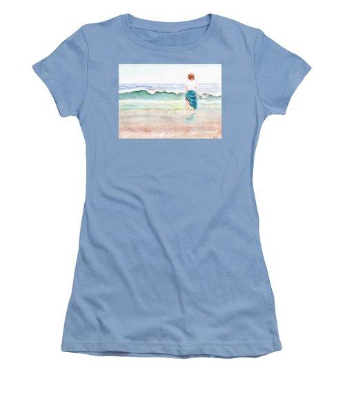 At The Beach Women's T-Shirt (Junior Cut) by C Sitton