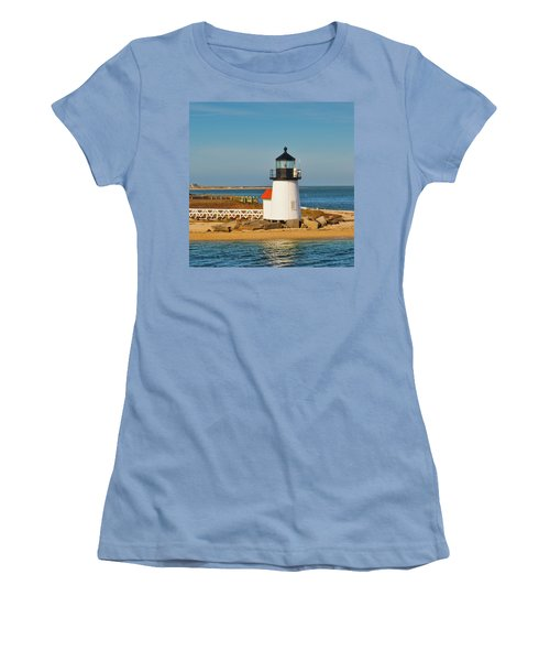 Brant Point Lighthouse Nantucket Women's T-Shirt (Athletic Fit)