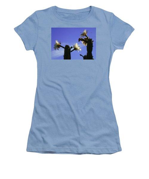 Flowering Cactus 4 Women's T-Shirt (Junior Cut) by Mariusz Kula