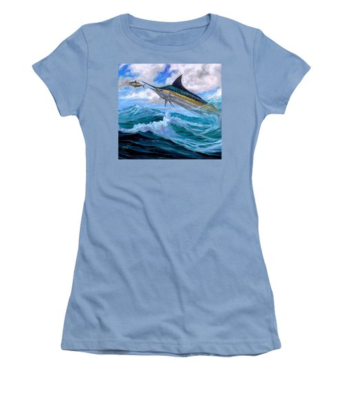 Marlin Low-flying Women's T-Shirt (Athletic Fit)
