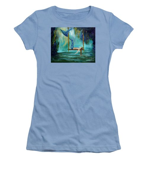Mermaids Lazy Lagoon Women's T-Shirt (Athletic Fit)