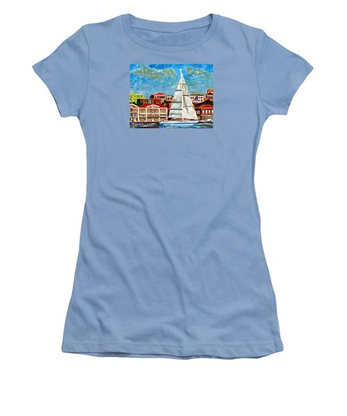 Sailing In Women's T-Shirt (Athletic Fit)