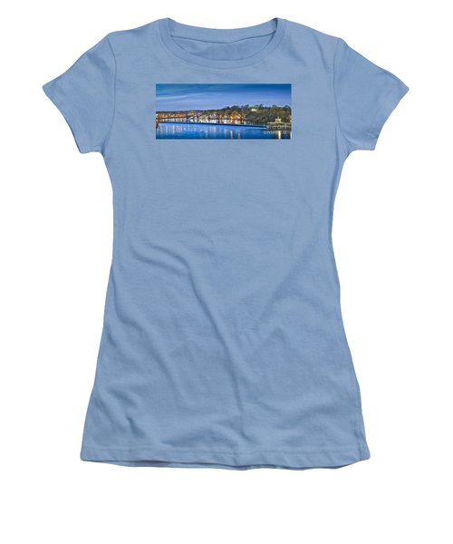 Schuylkill River  Boathouse Row Lit At Night  Women's T-Shirt (Athletic Fit)