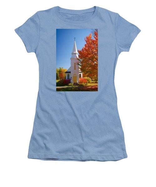 St Matthew's In Autumn Splendor Women's T-Shirt (Athletic Fit)