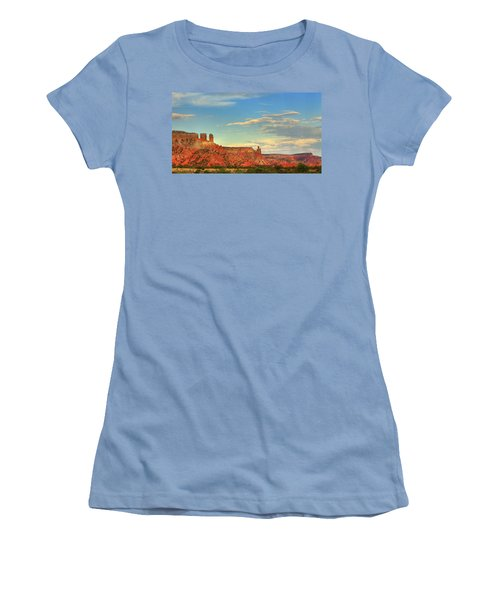 Women's T-Shirt (Junior Cut) featuring the photograph Sunset At Ghost Ranch by Alan Vance Ley