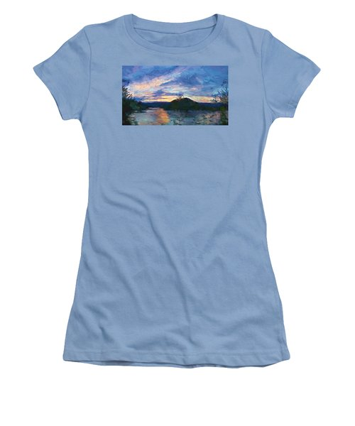 Sunset Pano - Watauga Lake Women's T-Shirt (Athletic Fit)