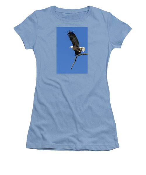 Women's T-Shirt (Junior Cut) featuring the photograph Take Off 2 by David Lester