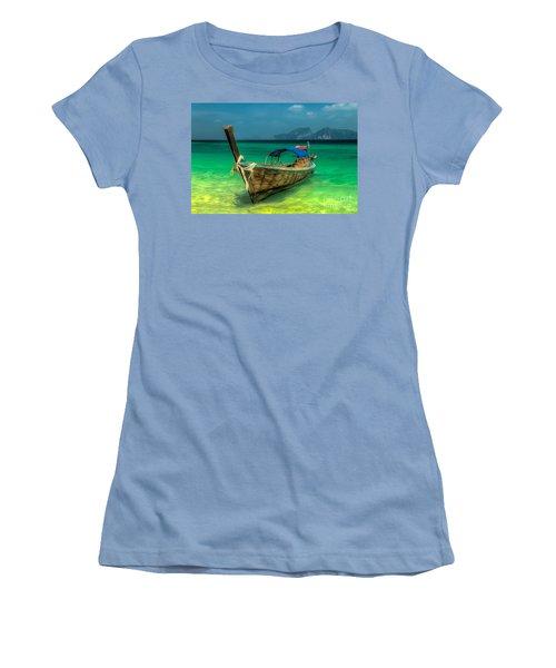 Thai Longboat Women's T-Shirt (Junior Cut) by Adrian Evans