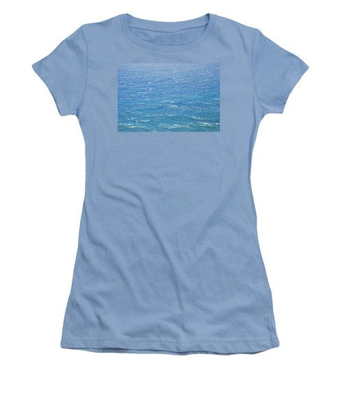 Women's T-Shirt (Junior Cut) featuring the photograph Blue Waters by George Katechis