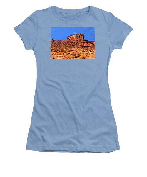 Women's T-Shirt (Junior Cut) featuring the painting National Navajo Tribal Park by Bob and Nadine Johnston