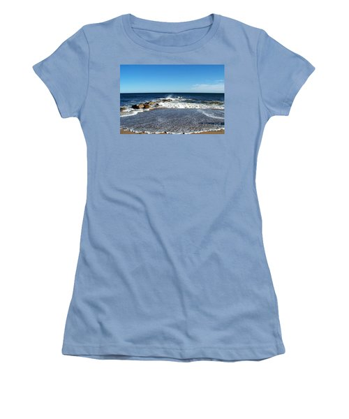 Women's T-Shirt (Junior Cut) featuring the photograph Plum Island Landscape by Eunice Miller