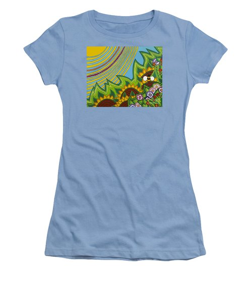 Sunflowers Women's T-Shirt (Junior Cut) by Rojax Art