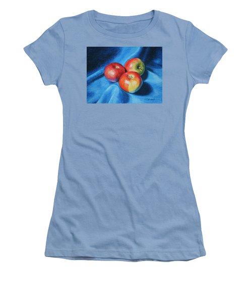 3 Apples Women's T-Shirt (Athletic Fit)
