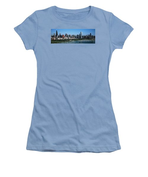 Aerial View Of Buildings In A City Women's T-Shirt (Junior Cut) by Panoramic Images
