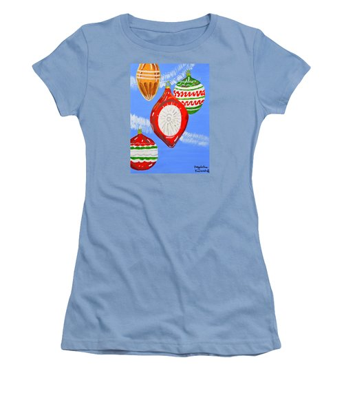 Women's T-Shirt (Junior Cut) featuring the painting Merry Christmas  by Magdalena Frohnsdorff