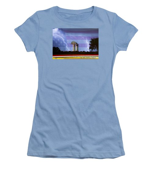 9-11 We Will Never Forget 2011 Poster Women's T-Shirt (Junior Cut)