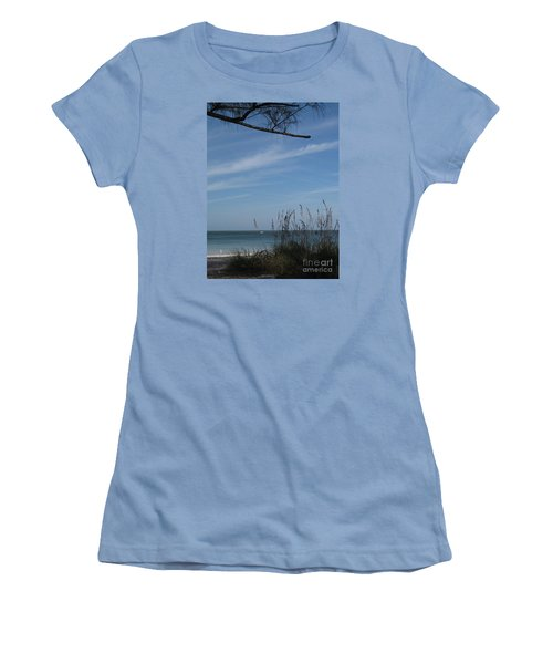 Women's T-Shirt (Junior Cut) featuring the photograph A Beautiful Day At A Florida Beach by Christiane Schulze Art And Photography
