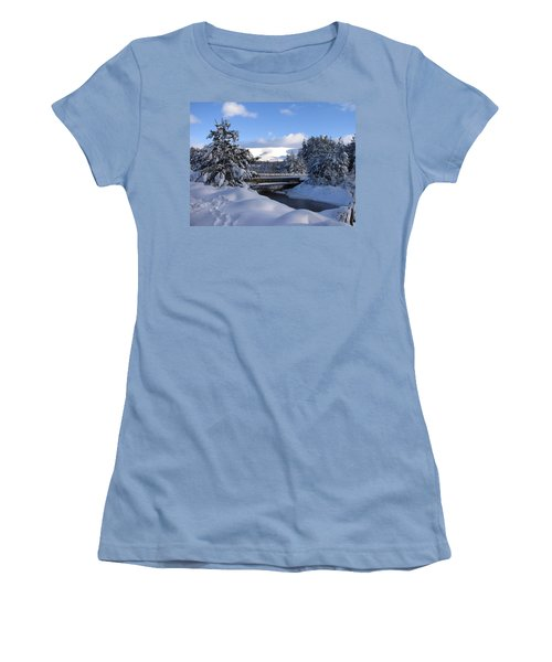 A Bridge In The Snow Women's T-Shirt (Athletic Fit)