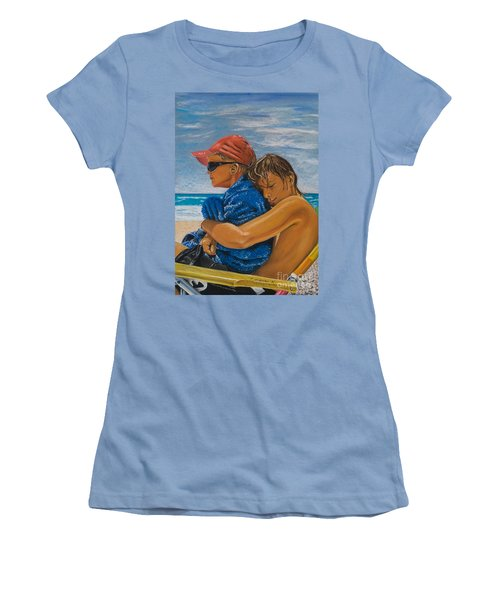 A Day On The Beach Women's T-Shirt (Athletic Fit)