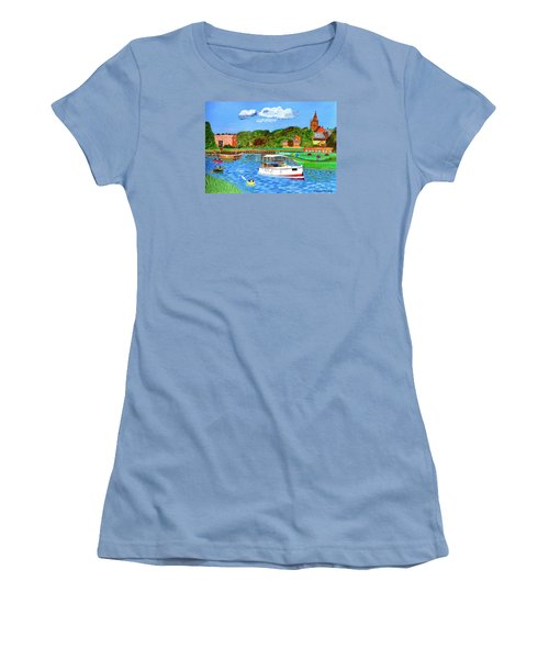 A Day On The River Women's T-Shirt (Junior Cut) by Magdalena Frohnsdorff