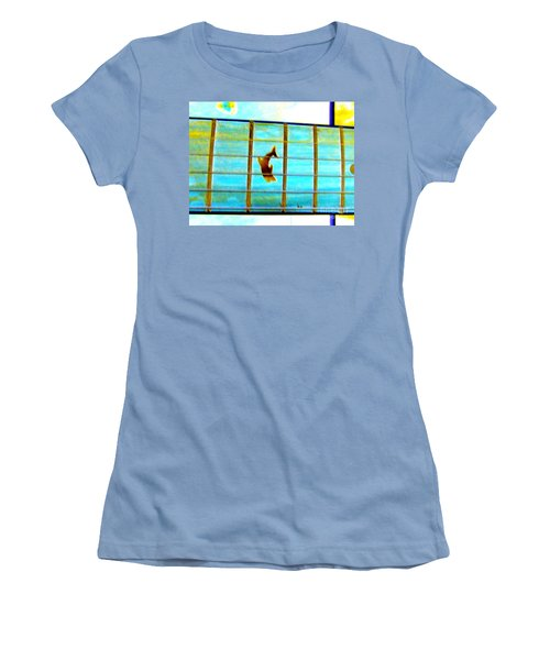 A Dolphin On A Guitar Ocean Women's T-Shirt (Athletic Fit)
